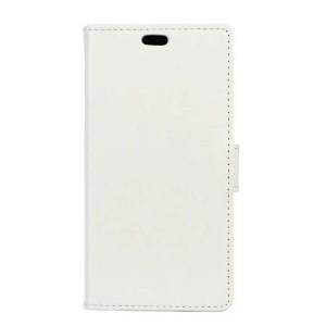 Вощеный чехол портмоне подставка на силиконовой основе на магнитной защелке для Huawei Honor 8  Белый