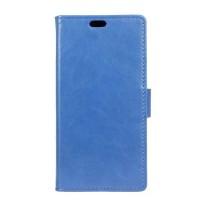 Вощеный чехол портмоне подставка на силиконовой основе на магнитной защелке для Huawei Honor 8  Синий