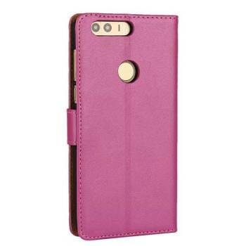 Винтажный чехол портмоне на пластиковой основе на магнитной защелке для Huawei Honor 8  Пурпурный