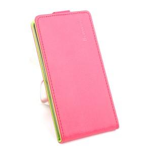 Текстурный чехол вертикальная книжка на силиконовой основе на магнитной защелке для Huawei Honor 8  Розовый