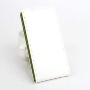 Текстурный чехол вертикальная книжка на силиконовой основе на магнитной защелке для Huawei Honor 8  Белый