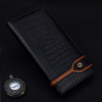 Кожаный чехол горизонтальная книжка (премиум нат. кожа крокодила) для Huawei Honor 8