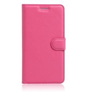 Чехол портмоне подставка на силиконовой основе на магнитной защелке для Huawei Honor 8 Пурпурный