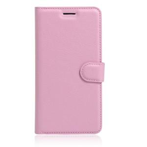 Чехол портмоне подставка на силиконовой основе на магнитной защелке для Huawei Honor 8 Розовый
