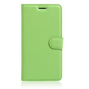 Чехол портмоне подставка на силиконовой основе на магнитной защелке для Huawei Honor 8 Зеленый