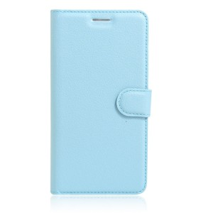 Чехол портмоне подставка на силиконовой основе на магнитной защелке для Huawei Honor 8 Голубой