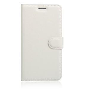 Чехол портмоне подставка на силиконовой основе на магнитной защелке для Huawei Honor 8 Белый