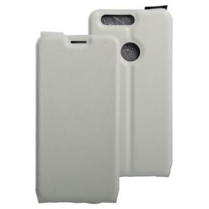 Вертикальный чехол-книжка на силиконовой основе с отсеком для карт на магнитной защелке для Huawei Honor 8 Белый