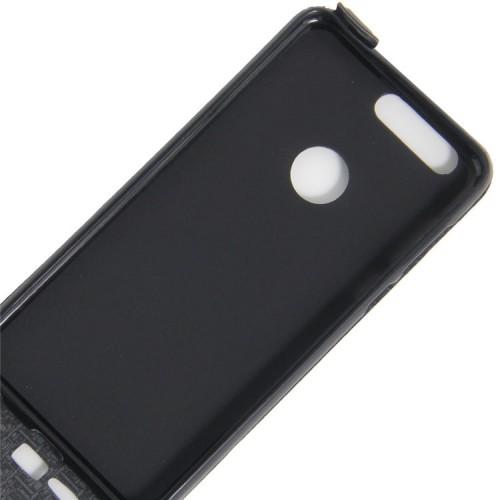 Винтажный чехол вертикальная книжка на силиконовой основе с отсеком для карт на магнитной защелке для Huawei Honor 8 Коричневый