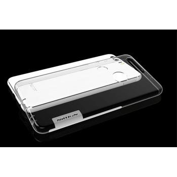 Силиконовый матовый полупрозрачный чехол с улучшенной защитой элементов корпуса (заглушки) для Huawei Honor 8  Белый
