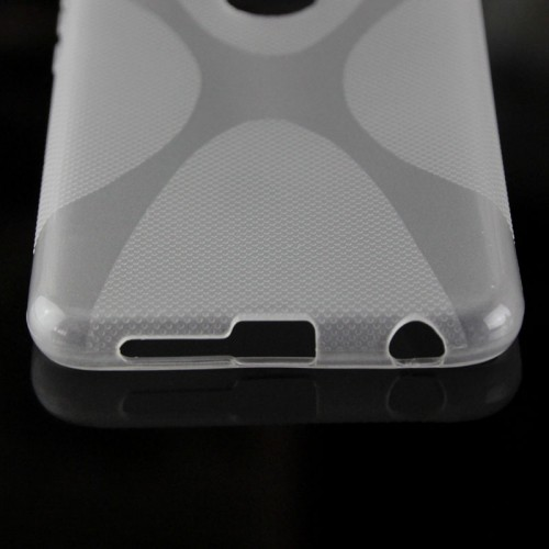 Силиконовый матовый полупрозрачный чехол с дизайнерской текстурой X для Huawei Honor 8