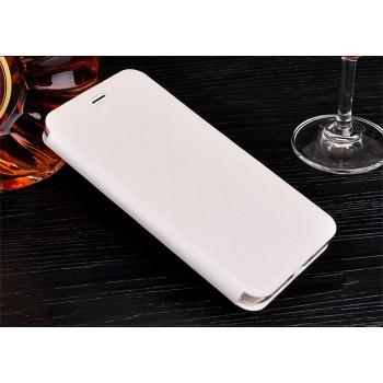 Чехол горизонтальная книжка подставка текстура Соты на силиконовой основе с отсеком для карт для Huawei Honor 8 Белый