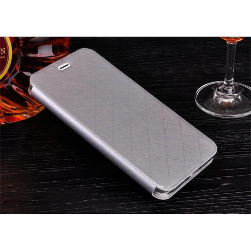 Чехол горизонтальная книжка подставка текстура Соты на силиконовой основе с отсеком для карт для Huawei Honor 8