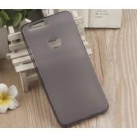Силиконовый матовый полупрозрачный чехол для Huawei Honor 8  Черный