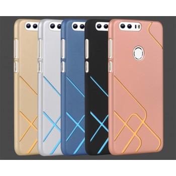 Пластиковый непрозрачный матовый чехол со сменными вкладышами для Huawei Honor 8