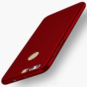 Пластиковый непрозрачный матовый чехол с улучшенной защитой элементов корпуса для Huawei Honor 8 Красный