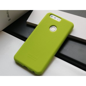 Силиконовый матовый непрозрачный чехол премиум софт-тач для Huawei Honor 8 Зеленый