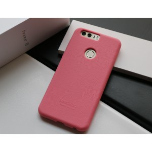 Силиконовый матовый непрозрачный чехол премиум софт-тач для Huawei Honor 8 Розовый