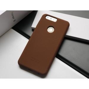 Силиконовый матовый непрозрачный чехол премиум софт-тач для Huawei Honor 8 Коричневый