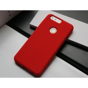 Силиконовый матовый непрозрачный чехол премиум софт-тач для Huawei Honor 8 Красный
