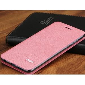 Чехол горизонтальная книжка подставка текстура Соты на силиконовой основе для Huawei Honor 8  Розовый