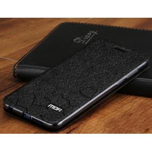 Чехол горизонтальная книжка подставка текстура Соты на силиконовой основе для Huawei Honor 8  Черный
