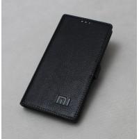 Кожаный чехол горизонтальная книжка подставка на силиконовой основе с крепежной застежкой для Xiaomi RedMi Pro