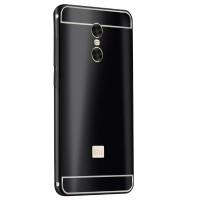 Двухкомпонентный чехол c металлическим бампером с поликарбонатной накладкой и текстурным покрытием Металл для Xiaomi RedMi Pro  Черный