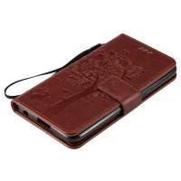 Винтажный чехол портмоне подставка на силиконовой основе на магнитной защелке для LG X Power  Коричневый