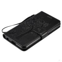 Винтажный чехол портмоне подставка на силиконовой основе на магнитной защелке для LG X Power  Черный