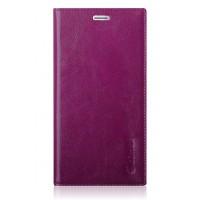Вощеный чехол горизонтальная книжка подставка на пластиковой основе с отсеком для карт на присосках для Xiaomi RedMi Pro Фиолетовый