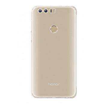 Силиконовый глянцевый транспарентный чехол для Huawei Honor 8