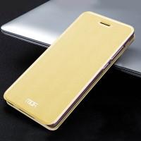 Чехол флип подставка текстура Металлик на силиконовой основе для Xiaomi Mi Note  Желтый