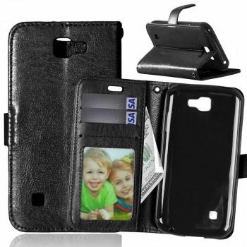 Глянцевый чехол портмоне подставка на силиконовой основе на магнитной защелке для LG K3