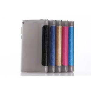 Сегментарный чехол книжка подставка текстура Линии на транспарентной поликарбонатной основе для Lenovo Tab 3 7