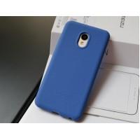 Силиконовый матовый непрозрачный премиум софт-тач чехол для Meizu MX6  Синий