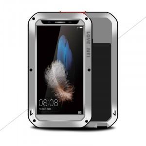 Эксклюзивный многомодульный ультрапротекторный пылевлагозащищенный ударостойкий нескользящий чехол алюминиево-цинковый сплав/силиконовый полимер с закаленным защитным стеклом для Huawei GR3 Серый
