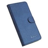 Текстурный чехол горизонтальная книжка подставка на силиконовой основе с отсеком для карт на магнитной защелке для Asus ZenFone 3 5.2  Синий