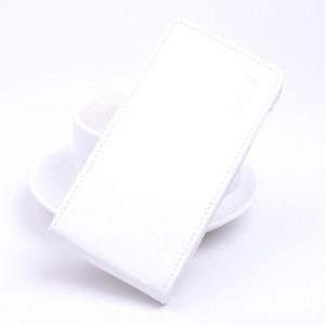 Глянцевый водоотталкивающий чехол вертикальная книжка на силиконовой основе на магнитной защелке для Asus ZenFone 3 5.2  Белый