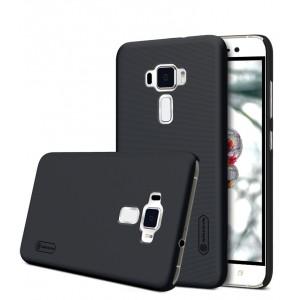Пластиковый непрозрачный матовый нескользящий премиум чехол для Asus ZenFone 3 5.2 Черный