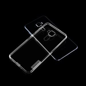 Силиконовый матовый полупрозрачный чехол с улучшенной защитой элементов корпуса (заглушки) для Asus ZenFone 3 5.2  Белый