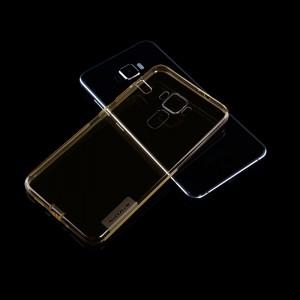 Силиконовый матовый полупрозрачный чехол с улучшенной защитой элементов корпуса (заглушки) для Asus ZenFone 3 5.2  Бежевый