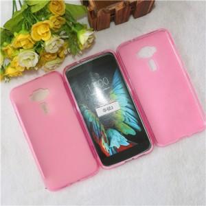 Силиконовый матовый полупрозрачный чехол для Asus ZenFone 3 5.2  Розовый