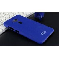 Пластиковый непрозрачный матовый чехол с повышенной шероховатостью для Asus ZenFone 3 5.2  Синий