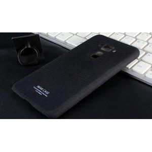 Пластиковый непрозрачный матовый чехол с повышенной шероховатостью для Asus ZenFone 3 5.2  Черный