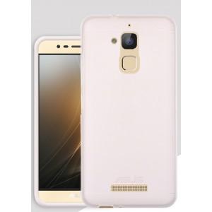Силиконовый матовый полупрозрачный чехол для Asus ZenFone 3 Max Белый