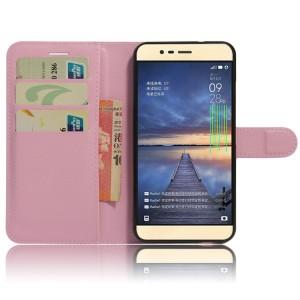 Чехол портмоне подставка на силиконовой основе на магнитной защелке для Asus ZenFone 3 Max Розовый