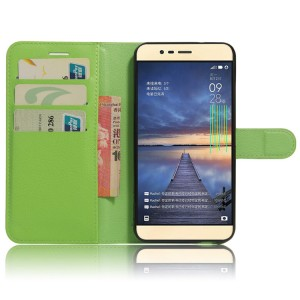 Чехол портмоне подставка на силиконовой основе на магнитной защелке для Asus ZenFone 3 Max Зеленый