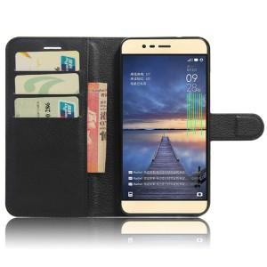 Чехол портмоне подставка на силиконовой основе на магнитной защелке для Asus ZenFone 3 Max Черный