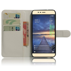 Чехол портмоне подставка на силиконовой основе на магнитной защелке для Asus ZenFone 3 Max Белый